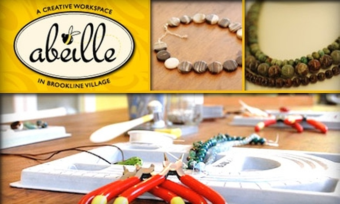 Abeille - Brookline Village: $20 for $50 Worth of Crafty Classes and Jewelry-Making Materials at Abeille