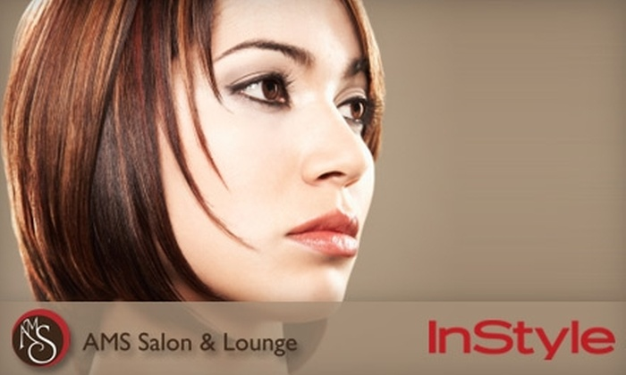 AMS Salon and Lounge - Logan Square: $150 for a Keratin Straightening Treatment at AMS Salon and Lounge