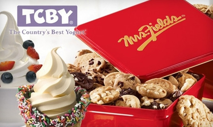 TCBY/Mrs. Fields - Springlake, University Terrace: $5 for $10 Worth of Soft-Serve Yogurt, Smoothies, Brownies, Cookies, Cakes, and More at TCBY/Mrs. Fields