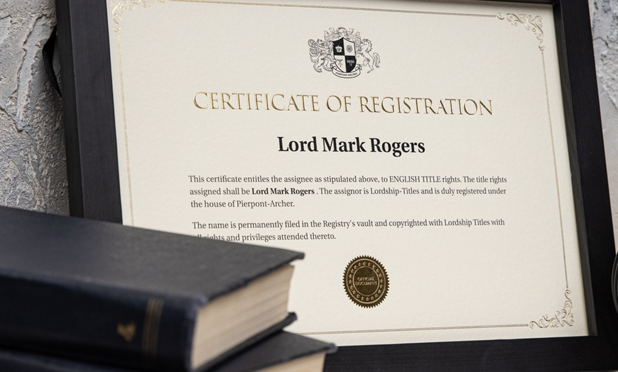 Lordship Titles England Title (Lord or Lady)