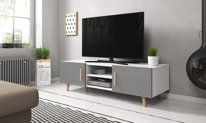 Scandinavian Styled Tv Cabinet Groupon Goods