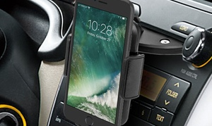 Black CD Slot Car Mount for Smartphones