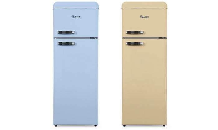 Retro Tabak Keukens : Up to 38% off swan retro fridge freezers groupon