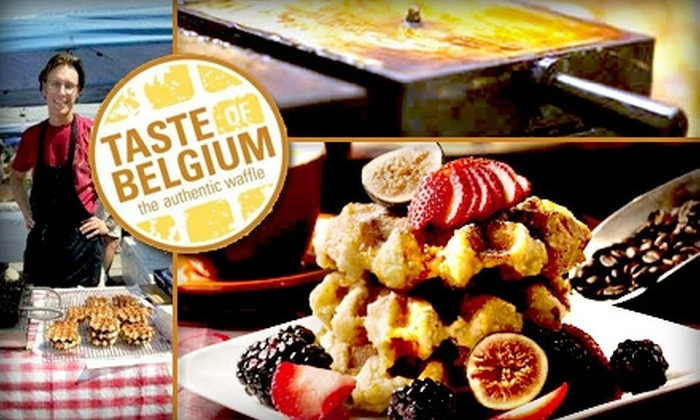 Taste of Belgium - Over-The Rhine: $5 for $10 Worth of Waffles, Crêpes, and Baked Goods at Taste of Belgium