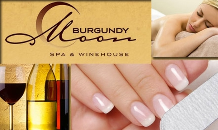 Burgundy Moon Spa - Cornelius: $29 for a Mani-Pedi and a Glass of Wine at Burgundy Moon Spa & Winehouse ($70 Value)
