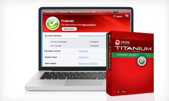 Internet Security Software: Trend Micro Titanium Internet Security 2012 or Maximum Security Premium Edition 2012 Software (Up to 81% Off)