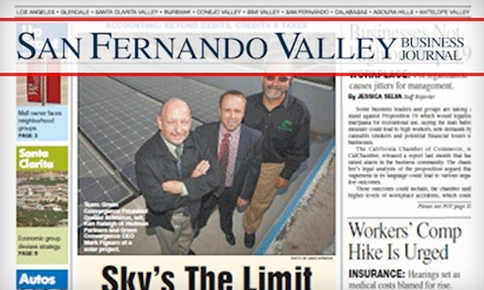 "San Fernando Valley Business Journal: $15 for a One-Year Subscription to the ""San Fernando Valley Business Journal"" ($44.95 Value)"