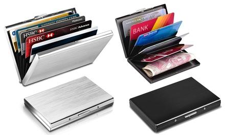 Porta carte blocco RFID in acciaio inox
