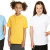 Unisex Kids' Short Sleeved Polo Pique Shirts (5-Pack)