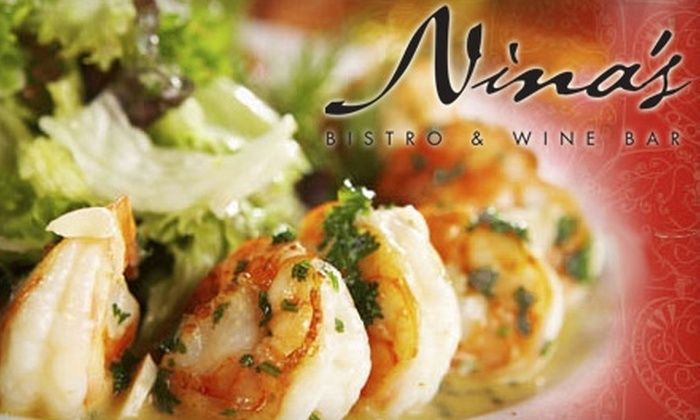 Nina's Bistro & Wine Bar - Strathcona: $20 for $40 Worth of Mediterranean Fare at Nina's Bistro & Wine Bar