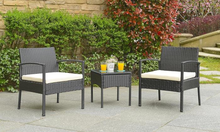 rattan garden furniture set groupon goods. Black Bedroom Furniture Sets. Home Design Ideas
