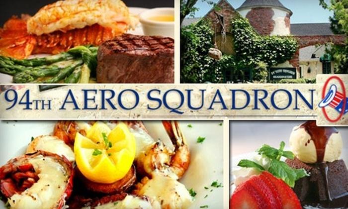 94th Aero Squadron - Kearny Mesa: $20 for $45 Worth of Fine Dining & Drinks at 94th Aero Squadron