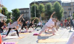 Sathya Ananda Yoga: 10 o 20 lezioni di yoga di 60 minuti da Sathya Ananda Yoga (sconto fino a 85%)