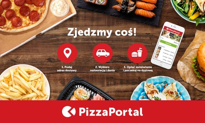 PizzaPortal.pl: PizzaPortal.pl: 20 zł za groupon wart 40 zł na jedzenie z dowozem przy pierwszym zamówieniu