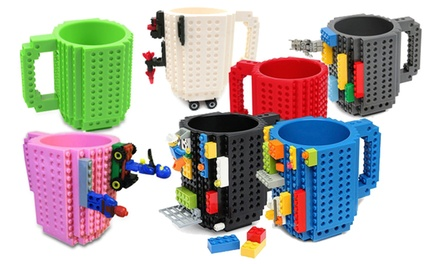 One, Two or Three Build-On Brick Mugs