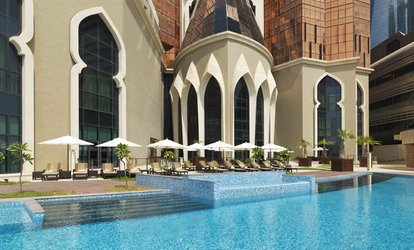 Pool and Beach Access for a Child or Up to Four Adults with Food Voucher at 5* Bab Al Qasr Hotel (Up to 54% Off)