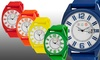 Crayo Sunset Unisex Silicone Strap Watch with Date Display: Crayo Sunset Unisex Silicone Strap Watch with Date Display
