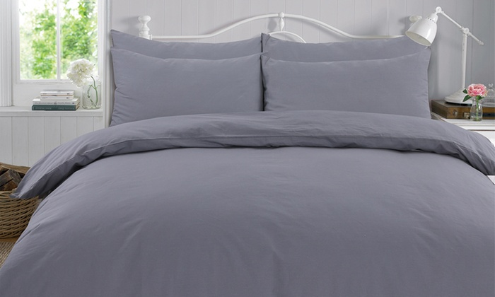 Highams 100% Cotton Fitted Sheet, Duvet Set or Complete Set from £6.59