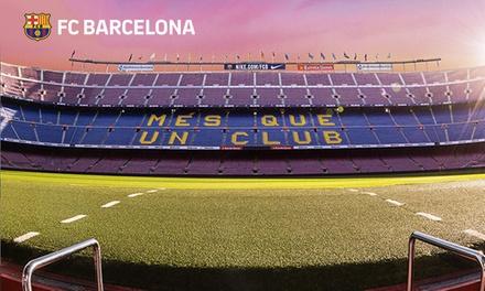 Paga 1 € para obtener un código descuento del 50% en la entrada al Barça Stadium Tour & Museum