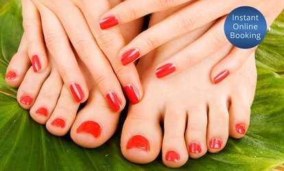 Express Mani ($15) + Gel ($19), or Pedi ($24) + Gel ($29), or Deluxe Mani-Pedi ($49), All Nails and Tanning (Up to $120)