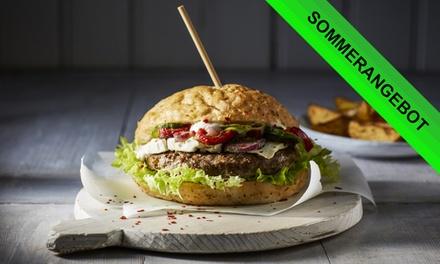 2x oder 4x Burger nach Wahl mit Wedges und Sour Cream inkl. Powermix Sorbet bei Grossstadt Deli (bis zu 45% sparen*)