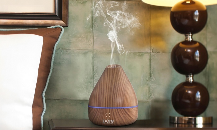 Purespa Natural Aromatherapy Oil Diffuser Wood