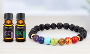 Lava Stone Diffuser Bracelet with Optional Essential Oils
