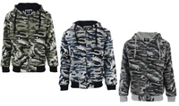 Men's Camo Fleece Zipper Hoody