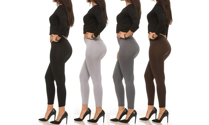Coco Limon Women's Seamless Fleece-Lined Leggings (4-Pack)