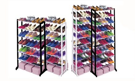 One or Two Seven or TenTier Shoe Racks
