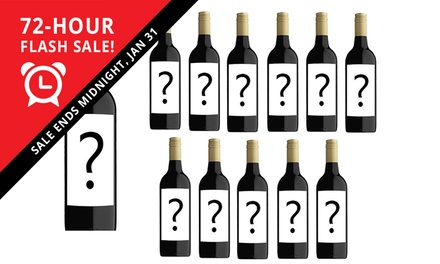$45 for a 12Bottle Case of Mystery Shiraz or Rose Wine Don't Pay $179