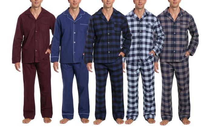 Noble Mount Pajamas for Men Cotton Flannel Lounge Set