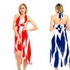 Women's High-Low Halter Top Streak Print Dress