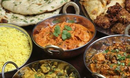 Menú hindú para 2 personas con entrante, principal y bebida desde 24,95 € en Jaipur El Puerto de Santa María