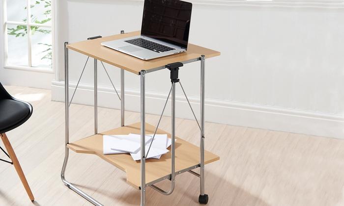 Fold Away Computer Desk Groupon Goods