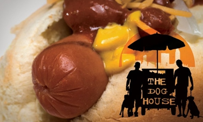 The Dog House - Multiple Locations: $5 for $10 Worth of Franks, Chips, and Drinks at The Dog House