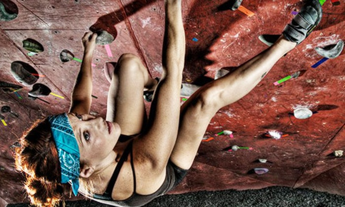 Dyno-Rock Climbing Center - Arlington: Five Indoor Climbing Sessions or Three CrossFit Sessions at Dyno-Rock Climbing Center (Up to Half Off)