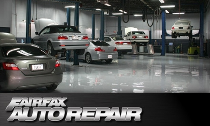 Fairfax Auto Repair - Fairfax: $29 for Two Regular Oil Changes ($73.52 Value) or $55 for Two Synthetic Oil Changes ($130.38 Value) at Fairfax Auto Repair in Fairfax