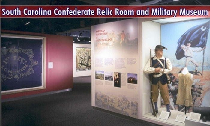 South Carolina Confederate Relic Room and Military Museum - The Congaree Vista: One-Year Membership to the South Carolina Confederate Relic Room and Military Museum. Choose Between Two Options.