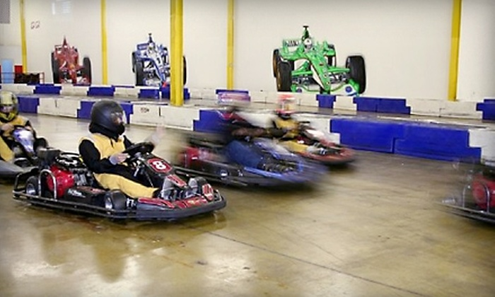 Melrose Park Indoor Grand Prix - Melrose Park: $25 for Four Go-Kart Rides, an Annual License, and a Head Sock at Melrose Park Indoor Grand Prix in Melrose Park ($81 Value)