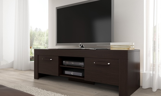 meuble tv rome groupon. Black Bedroom Furniture Sets. Home Design Ideas