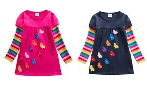 Robe t-shirt à motifs papillons, plusieurs tailles disponibles