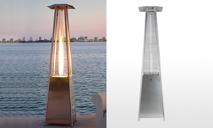 Groupon Goods   LFT: $399 Pyramid Outdoor Gas Patio Heater With Dancing  Flame, ...