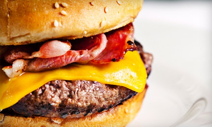 Sky Grille - New Pathways: Burger or Sandwich Meal with Appetizer and Dessert for Two or Four at Sky Grille (Up to 57% Off)