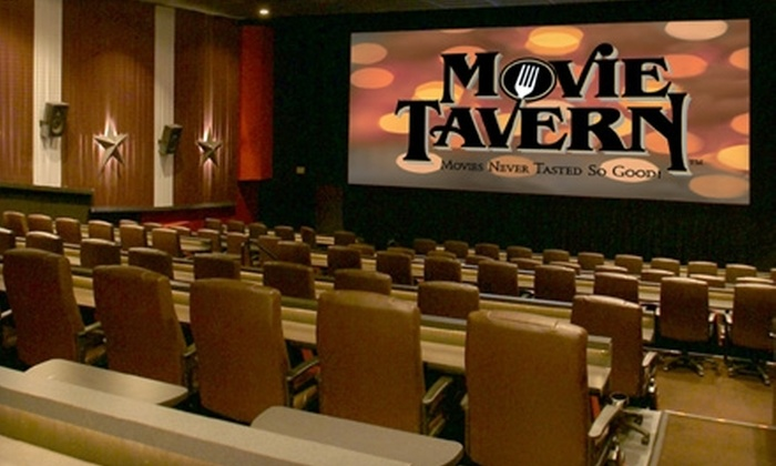 Movie Tavern - Multiple Locations: $6 for One Movie Ticket and Large Popcorn at Movie Tavern (Up to $15 Value)