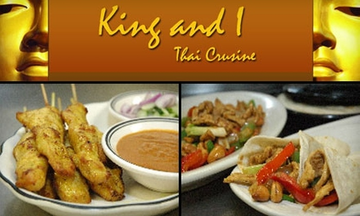 King and I - Tower Grove South: $10 for $20 Worth of Thai Dinner Fare or $6 for $12 Worth of Lunch Fare at King and I