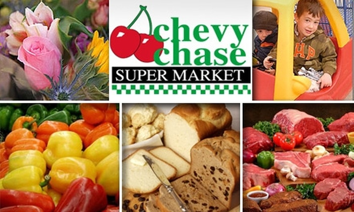 chevy chase supermarket - Chevy Chase: $20 for $50 Worth of Groceries and More at Chevy Chase Supermarket