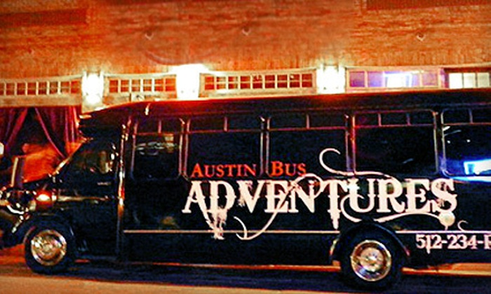 Austin Bus Adventures - North Burnet: Party Bus Ride Sunday-Thursday or Friday-Saturday for Up to 19 from Austin Bus Adventures (Up to 63% Off)