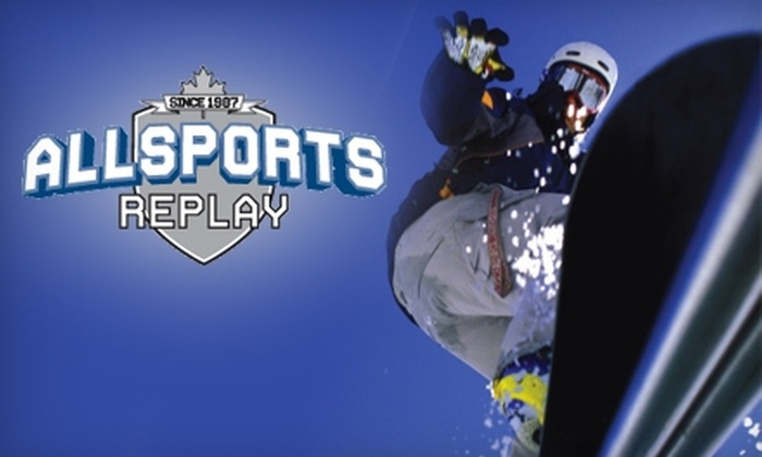 Allsports Replay - Multiple Locations: $25 for $50 Worth of New and Used Sporting Goods at Allsports Replay