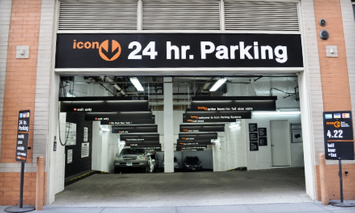 Icon Parking Systems - Multiple Locations: One Month of Unlimited Parking from Icon Parking Systems. 43 Locations Available in Manhattan.